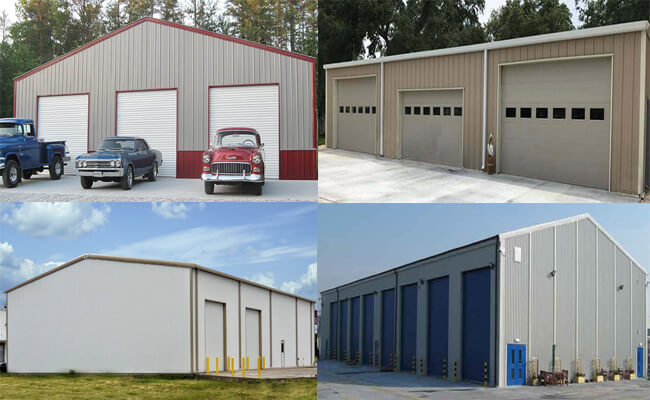 steel structure garage building